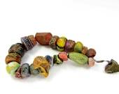 BARGAIN BUNDLE - Ceramic Clay Bead Mix - Craft Jewellery Beads  No. 228