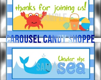Beach Theme Under The Sea Candy Bar Wrappers Instant Download Printable