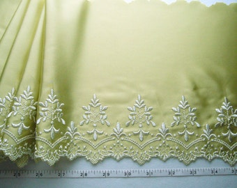 Embroidered lace, Satin lace, Heirloom lace, Victorian lace, Antique style lace 2 yards GN005