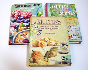 Three Baking Books, Muffins, Cobblers And Biscuits