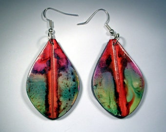Dyed Polymer Clay Earrings