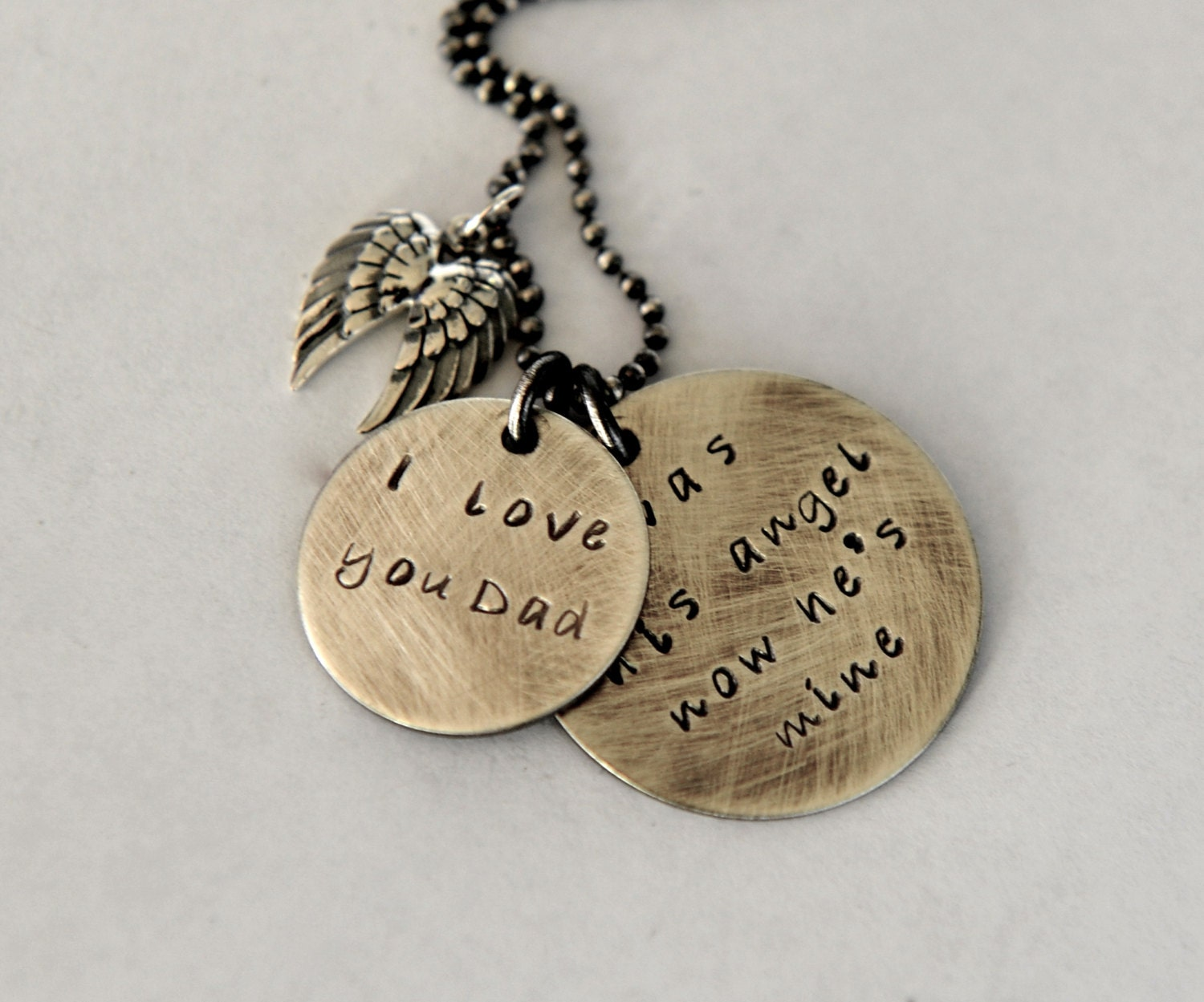 loss of dad necklace daughter and dad quote angel wings