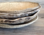 Ceramic salad plates cappuccino glaze- dessert plates, Handmade set of 4  Wedding gift Organic Handmade Tableware by Christiane Barbato