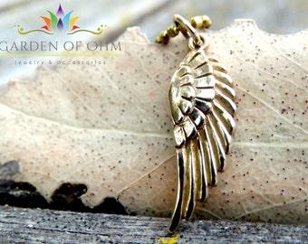 Wing Charm Necklace, Minimalist Necklace, Simple Charm Jewelry, Angel Wing Necklace, Angel Jewelry, Yoga Jewelry, Spiritual Jewelry