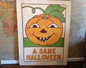 School Room Halloween Poster from 1939 Character Culture Citizenship Guides