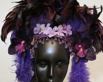 Purple Aura Headdress by Willow