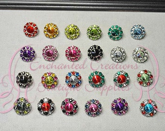 15mm Rhinestone Button Qty 5