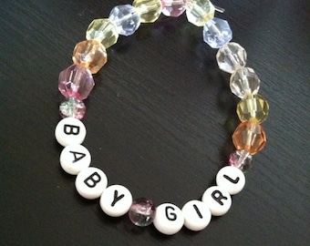 pale BABYGIRL bracelet