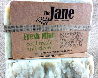 Fresh Mint Soap -  Minty Fresh Soap with Kaolin Clay and Essential Oils - Vegan Friendly!