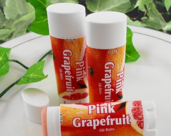 SoapGarden Lip Balm - Pink Grapefruit Lip Balm - Handcrafted - Sweetened