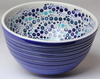Porcelain Bowl - Cobalt Blue and White - Ice Cream Bowl Size