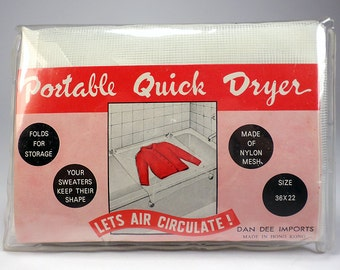 Portable Nylon Mesh Quick Dryer for Tub, Sweater Dryer