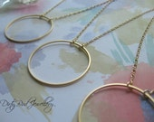 Large Gold Fill Eternity Circle Necklace - Sale 20% Off