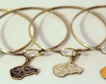 West Virginia Charm Bracelet or Necklace