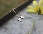 Tiny Silver Leaf Earrings, simple silver earrings, MADE TO ORDER