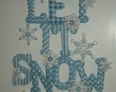 Bucilla Felted Kit Competed Let it Snow Wall Hanging Christmas Decoration