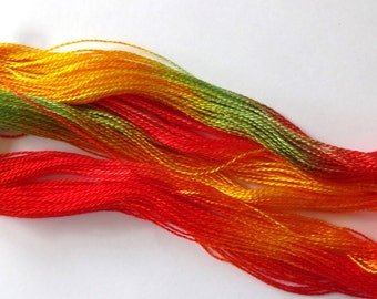 Embers Hand Dyed Tencel Thread Size 8