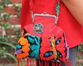 Fan page sale was 109 Delicate Cocktail Silk and Hand Embroidered purse   Mexican Orient Collection ONLY ONE