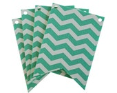 Mint Chevron Laser Cut Flags for Banners and Buntings DIY