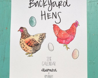 2016 Wall Calendar: Backyard Hens