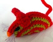 NEW Catopia9, 3 Certified Organic Valerian/Catnip Cat Toy mice, hand-crochet, high quality wool/bamboo yarn, no fiberfill, FREE SHIPPING