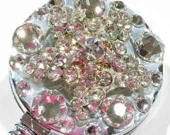 Crystal Clear Star Swarovski Crystal Embellished Retractable ID Name Tag Badge Reel