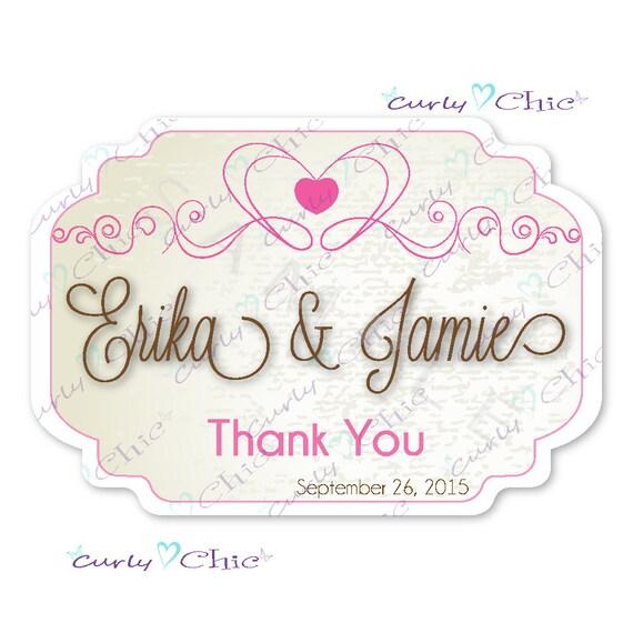 Thank you Stickers -Wedding Favor Stickers -Custom Wedding Labels ...