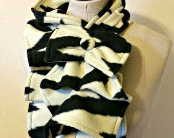 Ruffled Bow Scarf - Large tribal chevron