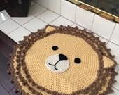 Crochet Lion Rug