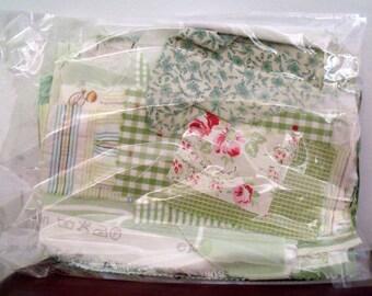 Green Fabric Scrap Bag 100g nearly 4oz in weight
