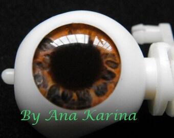 Blythe eye chips OOAK REALISTIC custom set G2, by Ana Karina. UV laminated