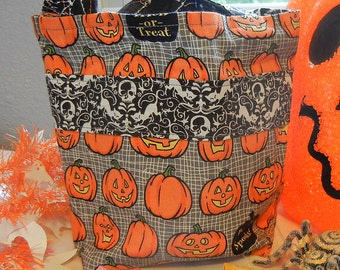 Eco-friendly Reusable Pumpkin Halloween Bag