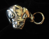 Sterling Silver Wildcat with Hoop Ring, Size 8.5