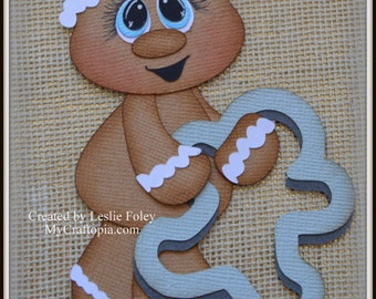 Gingerbread Cookie cutter Christmas Premade Scrapbooking Embellishment Paper Piecing