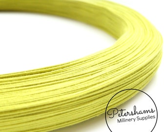0.4mm (46 Gauge) Extra Fine Cotton Covered Millinery Wire (For Hat Making, Flower Making) - Yellow