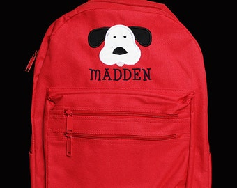 Boys Personalized Backpack, Dog Backpack, Monogrammed Backpack, Boys School Backpack, Daycare Bag, Choose Your Own Colors