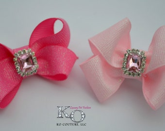 Dog Hair Bow - Bling for Small Dogs - Top Knot - Hair Clip