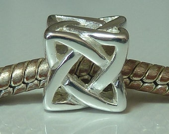 Sterling Silver European Slider Charm Bead - Fits all European Charm Bracelets