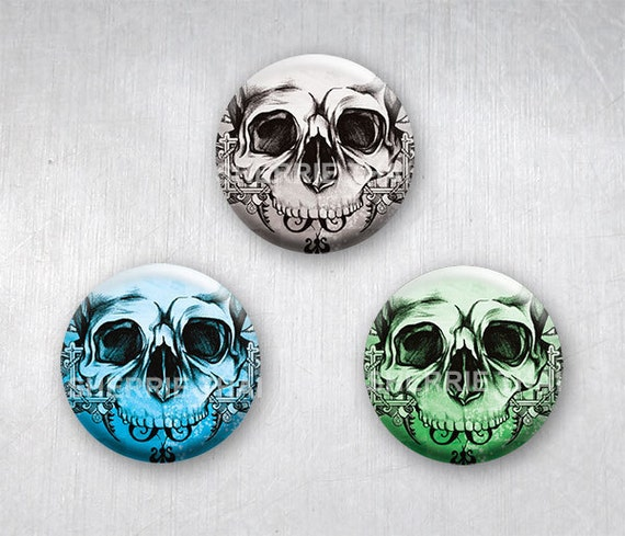 Skull Art Magnets by Sherrie Thai of Shaireproductions