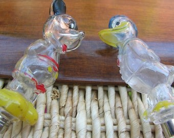 2 Disney Perfume Bottles Mickey & Donald