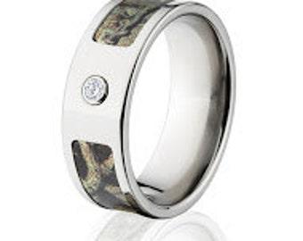 Titanium Diamond Camo Ring, Mossy Oak Breakup Infinity : 8F-BEZEL-BUI
