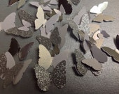 125 pc Assorted sized Paper butterflies  Table Decorations