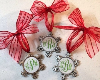 Monogram Christmas ornament