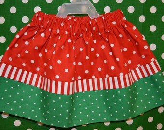 Red and Green Skirt