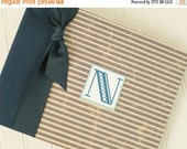 ON SALE NOW Modern Baby Book - Navy & Red Stripes