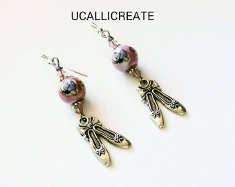 Ballerina Earrings /Handmade by Me/Gifts for Her