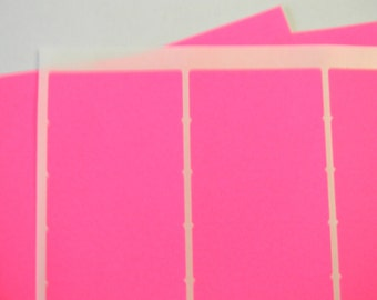 "5 Sheets 1"" Neon Pink Labels. 5 Sheets Blank 1"" Labels. 30 Labels Per Sheet. 5188"
