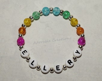 Bright Rainbow Name Bracelet