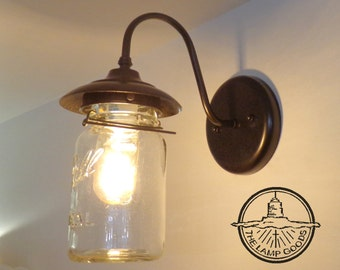 EXTERIOR Vintage Mason Jar SCONCE Light
