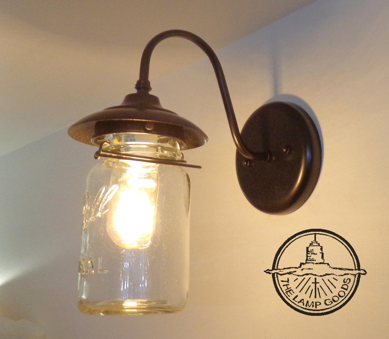 Mason Jar Lighting: EXTERIOR Mason Jar Lighting Vintage Mason Jar Wall SCONCE